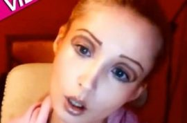 Valeria Lukyonova living Barbie doll is a fake according to new video.