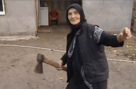 Russian grandmother who kills wolf with axe is now a legend.