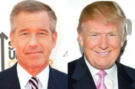 Donald Trump directs his ire at NBC's Brian Williams after deleting scathing tweets about Barack Obama.