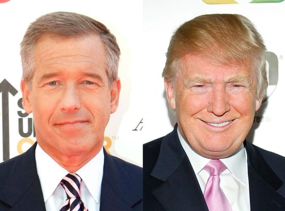 Brian Williams and Donald Trump.