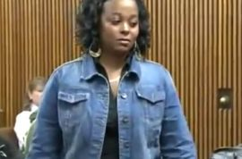 Oh really? Judge orders Cleveland woman to wear 'idiot' sign after driving on sidewalk.