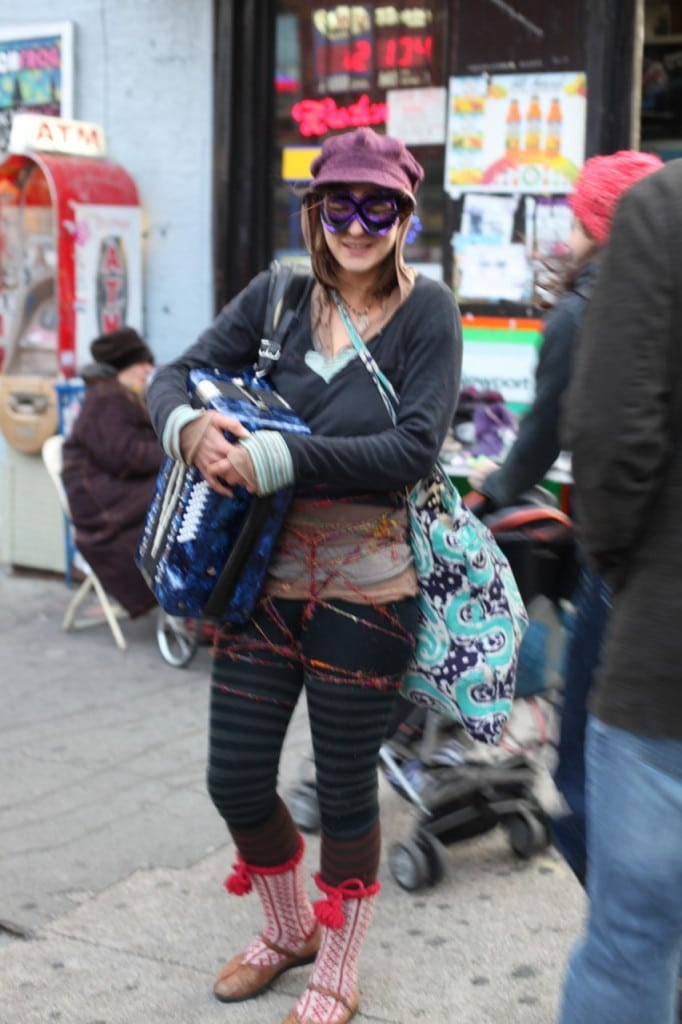 Hipster in Williamsburg for Halloween.