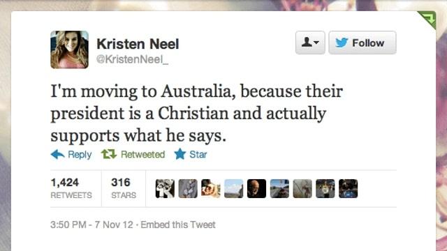 Kristen Neel tweet.