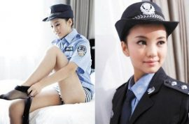 Chinese model sentenced to jail cause she dressed like a sexy police officer.