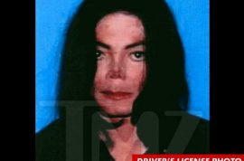 Michael Jackson's very scary driver's license picture discovered.