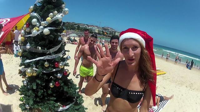 Christmas on Bondi Beach, Sydney Australia.