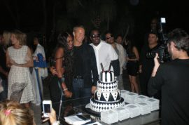 Miami Art Basel leads to birthday extravaganza for Naomi Campbell boyfriend, Vlad as hosted by P Diddy.