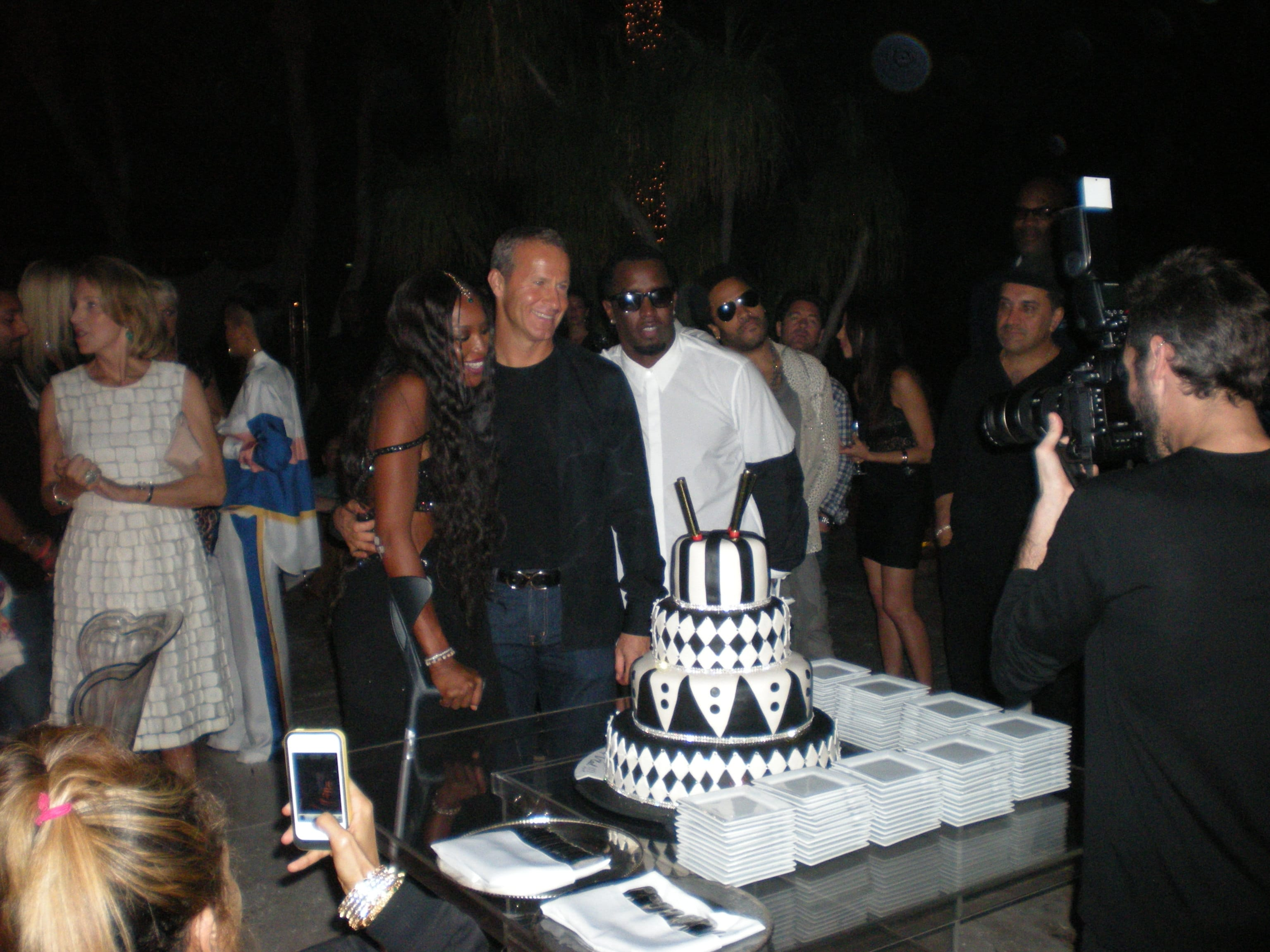 Naomi Campbell, Vladislav Doronin and Sean Combs