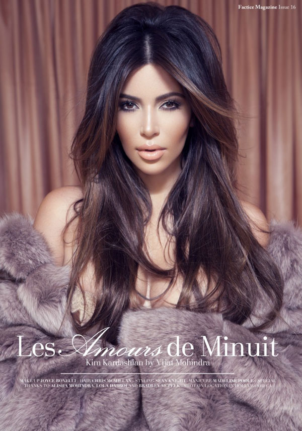 Kim Kardashian is shameless for Factice Magazine