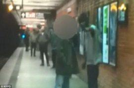 Video captures subway passenger pushed to his death by deranged panhandler.