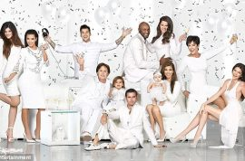 The White Kardashian Christmas card because white lies never hurt anyone.