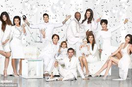The White Kardashian Christmas card because white lies never hurt anyone.