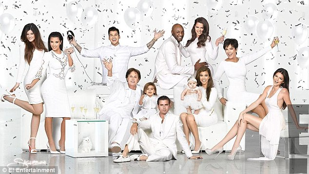 White Kardashian Christmas card
