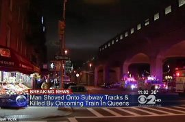 Video: Queens subway murder. Man pushed to his death by mystery woman.