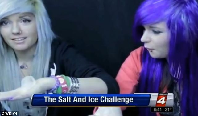 Salt and ice burn challenge.