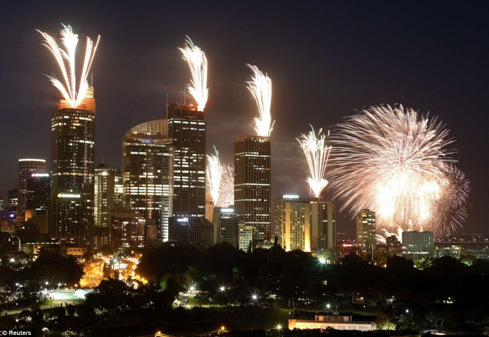 Sydney Australia new year's day