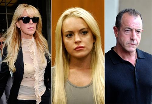 Dina Lohan, Lindsay Lohan and Michael Lohan.