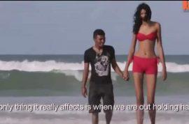 "Oh really? World's tallest teen girl, Elisany de Cruz Silva has a 5'4"" boyfriend."