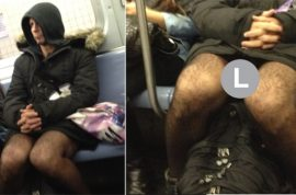 Have you met the NY Subway flasher who revels in showing you his penis?