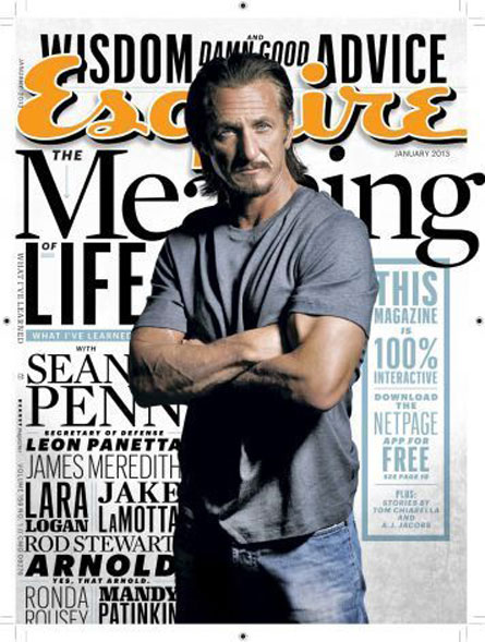 Sean Penn for Esquire. Wants you to finally love him...