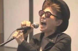 Yoko Ono's cover of Katy Perry's 'Firework' leaves the universe wondering if she is brilliant or just mad?