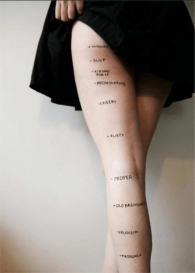 Skirt length.