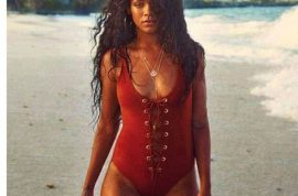 And this Rihanna once again in another bikini photo via instagram.