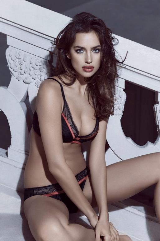Irina Shayk for La Clover's Valentine's Day lingerie