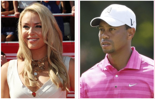 Lindsay Vonn and Tiger Woods