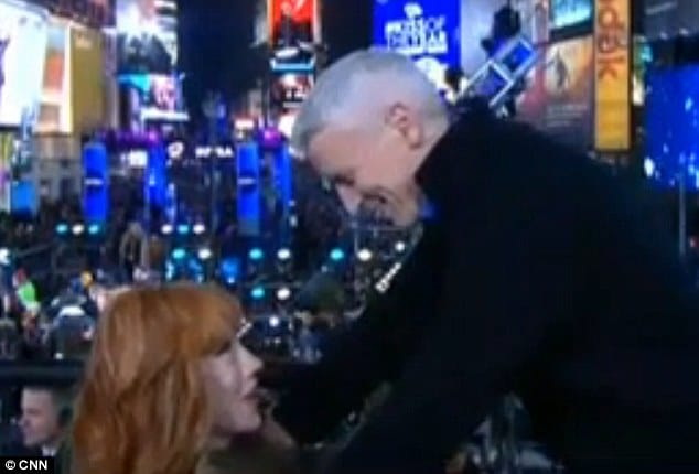 Kathy Griffin and Anderson Cooper.