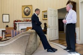 Opportunistic? Barack Obama pictures showing dismay at Sandy Hook Elementary school shooting news released.