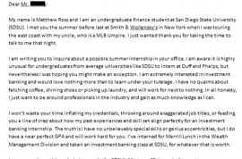 Is this the best cover letter ever written? Why Wall st bosses say yes.