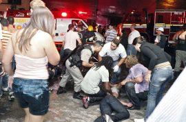 Brazilian nightclub fire. At least 245 dead, locked fire exits blamed as firework go wrong.
