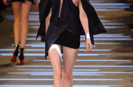 The world is confused by Alexandre Vauthier's couture dress exposing single breast.