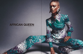 16 year old white girl hired to pose as black girl in 'African Queen' editorial.