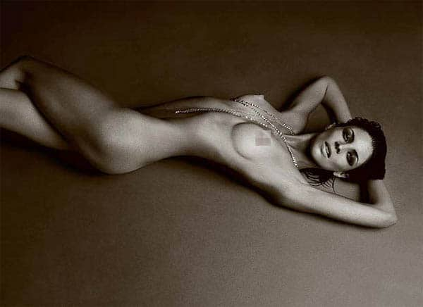 Here's Liberty Ross naked for LOVE magazine
