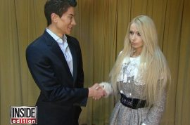 What terror! Real life Ken and Barbie, aka Justin Jedlica and Valeria Lukyanova meet.