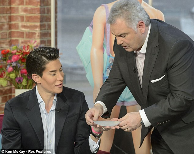Justin Jedlica and presenter  Eamonn Holmes