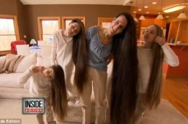 Meet Terelynn Russel and her daughters with hair longer that 6ft long.