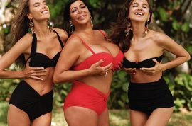 Mob Wives star Big Ang struts it with Alessandra Ambrosio and Irina Shayk.