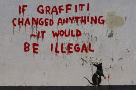 Banksy's arrest was just a hoax. Life imitating art.