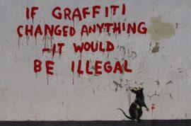Banksy's arrest was just a hoax. Life imitating art.