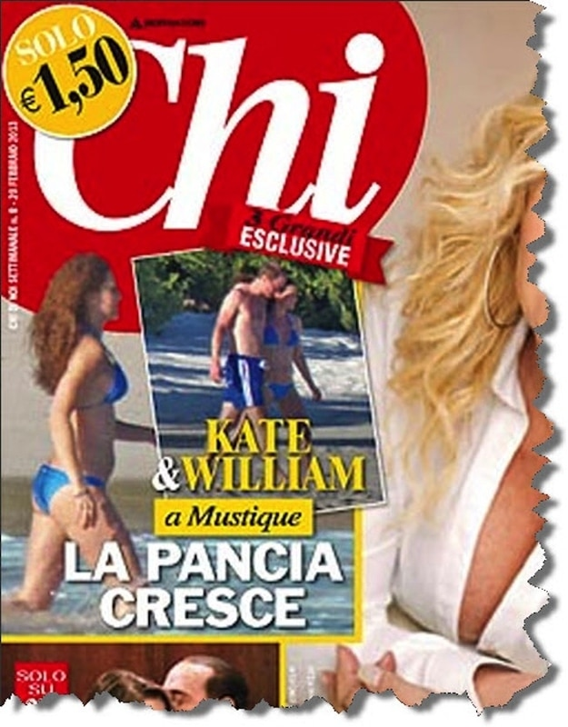 Kate Middleton pregnant bikini Chi magazine
