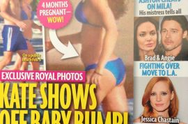 Kate Middleton pregnant bikini pictures now published by America's Star magazine.
