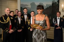 Michelle Obama's gown photoshopped by Iran news agency leads to cheers.