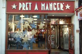 Prêt a Manger labor rules require 'happy' workers to touch each other or be sacked.