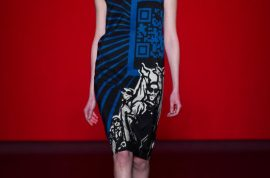 Vivienne Tam Fall/Autumn 2013/14 collection simulates a chic as fuck hot topic.