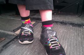 Why was a girl with down syndrome sent home from school with her shoes duct taped onto her feet?