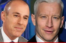 Anderson Cooper to replace Matt Lauer? Matt is outraged.