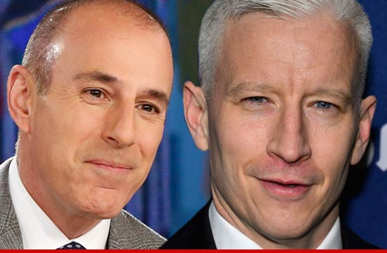 Matt Lauer and Anderson Cooper